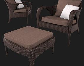 3D model Lounge Chair collection Tango Dedon