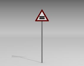Rail crossing sign 3D model