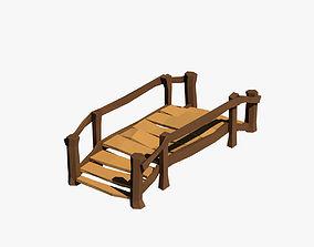 Cartoon bridge 3D model