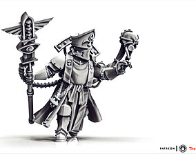 Feudal Guard Battle Priest 3D print model