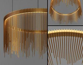 Chain String Ring Pendant 3D