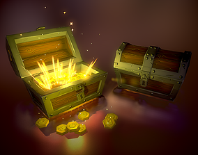 box 3D model game-ready Treasure Chest