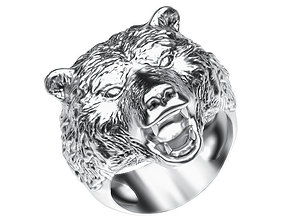 Ring 003 bear 3D printable model