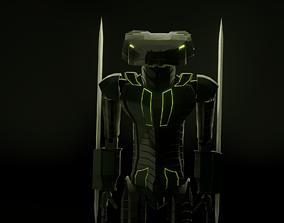 Robot-Viper 3D asset game-ready