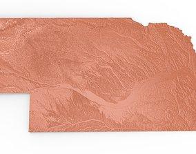 Nebraska Relief Map 3D print model