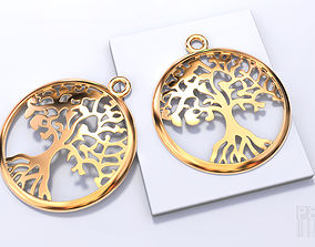 tree pendants Yggdrasil tree of life 3D print model