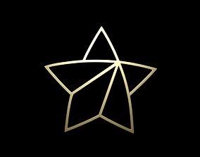 gold Gold Star 3D