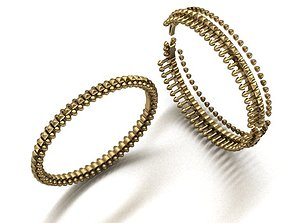 print model bracelet gold