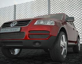 3D model low-poly VW Tuareg 4x4