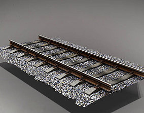 railway 3D model low-poly
