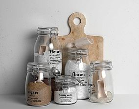 3D Kitchen Accessories and Ingredients