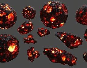 asteroid set 3D model VR / AR ready