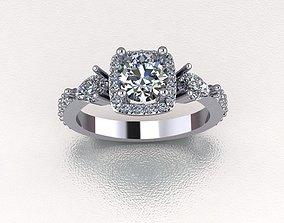 rings engagem 3D print model Diamond ring