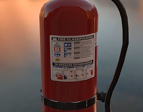 Fire Extinguisher 3D model VR / AR ready