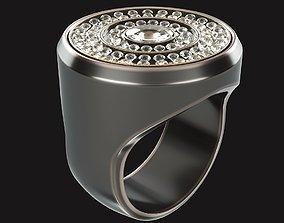 Diamond Ring glazed 3D print model