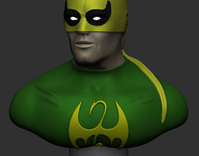 3D printable model games-toys Iron Fist Bust