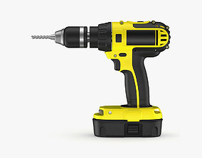 Cordless Drill 3D outdoor