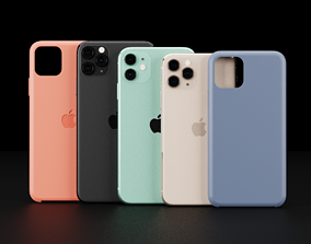 Apple Models and Cases Of iPhone 11 and 11 Pro 3D asset 3
