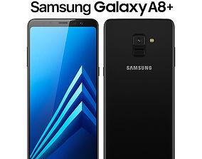3D model Samsung Galaxy A8 PLUS Black