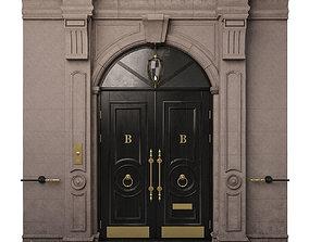 Entrance classic door 09 3D model