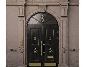 Entrance classic door 09 3D model