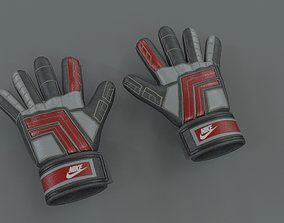 low-poly Gloves 3D Soccer Futbol LowPoly HighPoly