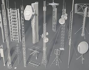 3D model Antennas - 19 pieces - part -3
