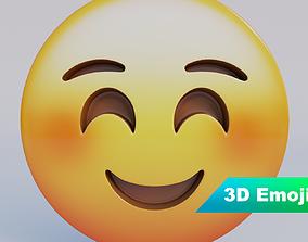 low-poly Smiling Face 3D Emoji