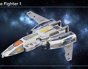 3D asset Spaceship Fighter and Corvette Construction Kit