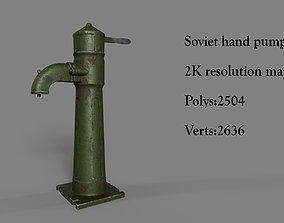 Soviet union hand water pump 3D model game-ready