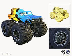 Monster Truck Bigfoot PBR 3D model