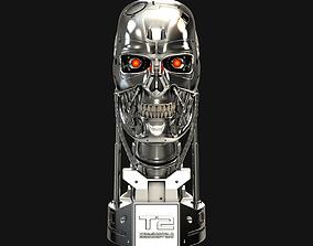 Terminator T-800 Skull Bust V2 3D print model cyborg