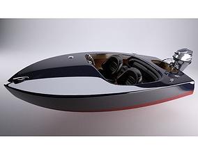 fbx 3D Glen-L Flying Saucer runabout