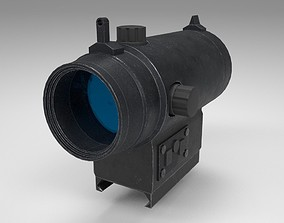 Red Dot - CQB Sight - Weapon Attachment - PBR 3D model