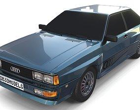 1981 Audi Coupe Quattro Dark Blue 3D