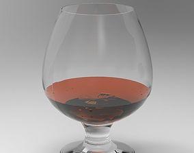 glass of cognac 3D