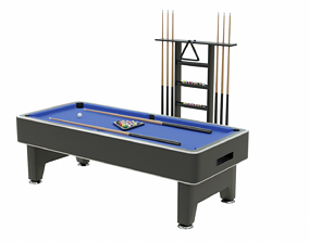 Pool Table Scene Collection 3D model