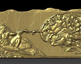 3D model The Creation of Adam Michelangelo