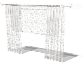 3D Textured Curtain Privacy And Breeze