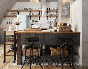 3D Kitchen bar volume