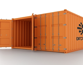 Shipping Container 3D asset rigged