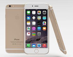 Iphone 6 Gold 3D asset