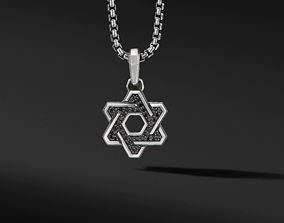 David Yurman Star Of David Pendant 3D print model
