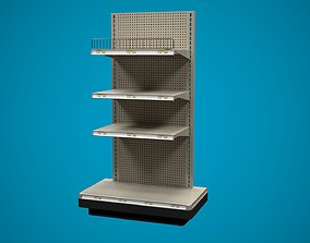 3D Store Shelf C End Cap