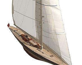 yacht 3D model J-Class Yacht ENDEAVOUR JK4