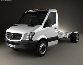 3D Mercedes-Benz Sprinter Single Cab Chassis LWB 2013