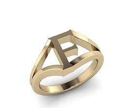 3D print model Jewelry Alphabet Ring F