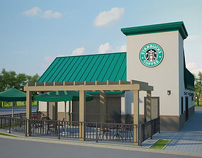 3D model Starbucks Restaurant 03