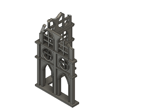 Damaged Gothic wall 3D print model