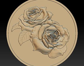 3D printable model Rose-Silver - relief -2019